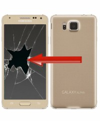 Galaxy Alpha - Glas / Displaybyte Guld